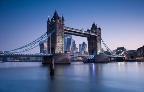 tower bridge night time london